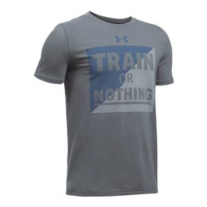 Boys` Train or Nothing Short Sleeve Tee Graphite