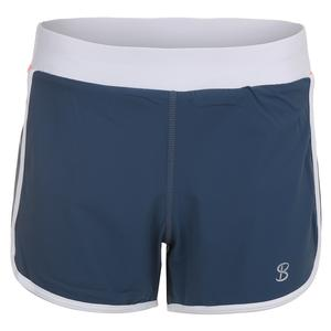 Women`s Retro Tennis Short Steel Blue
