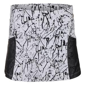 Women`s Love Me 2 Tennis Skirt Print and Black