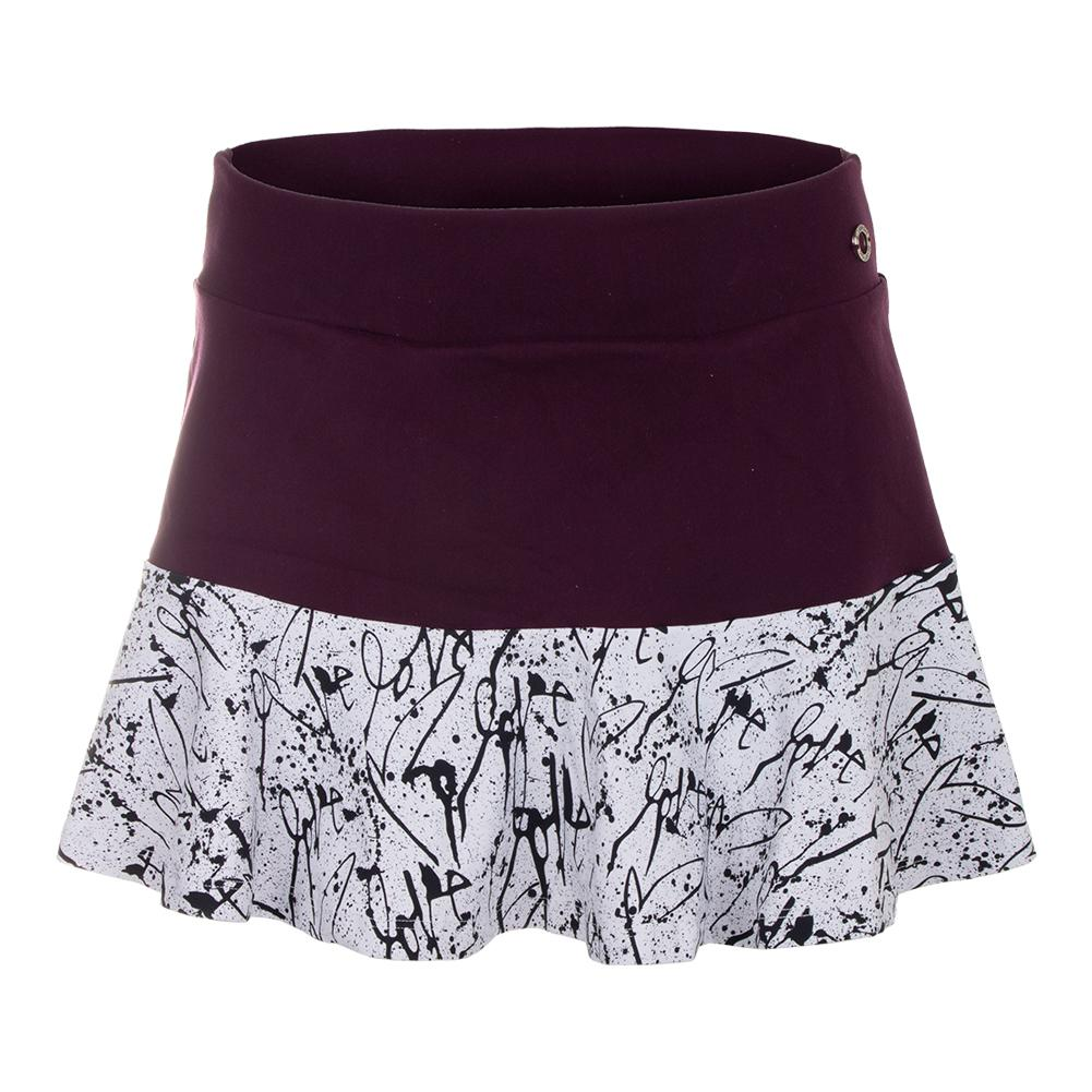 Women's Love Me Half Tennis Skirt Deluxe And Print
