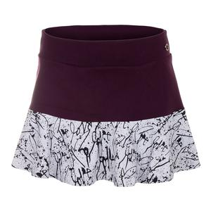 Women`s Love Me Half Tennis Skirt Deluxe and Print
