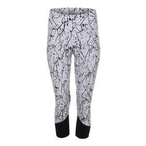 Women`s Love Me Tennis Capri Print and Black