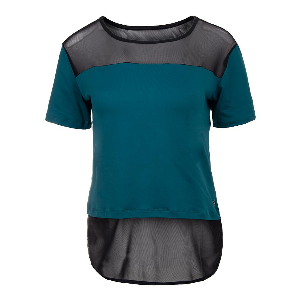 Women's Goddess Cover Up Tennis Top Submarine And Black