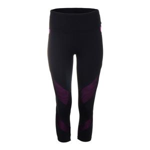 Women`s Unicorn Tennis Capri Black and Deluxe