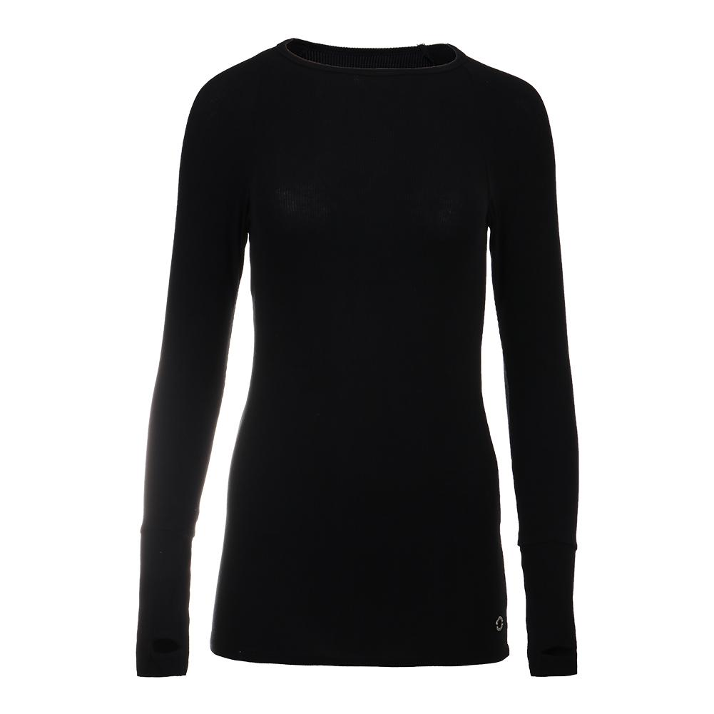 Women's Yummy Long Sleeve Tennis Top Black