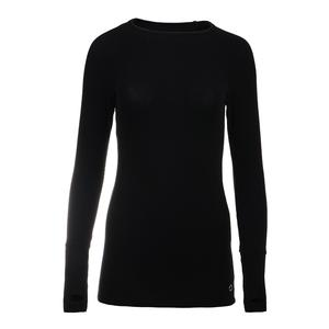 Women`s Yummy Long Sleeve Tennis Top Black