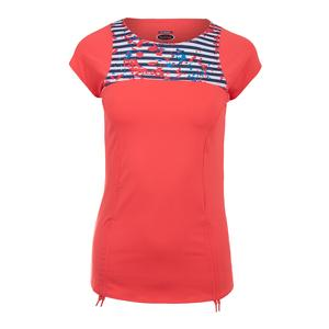 Women`s Catalina Cap Sleeve Tennis Top Coral