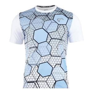 Men`s Hex Mesh Back Tennis Crew Arctic