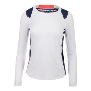 Women`s Catalina Long Sleeve Tennis Top White