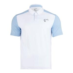 Men`s Break Tennis Polo White and Arctic