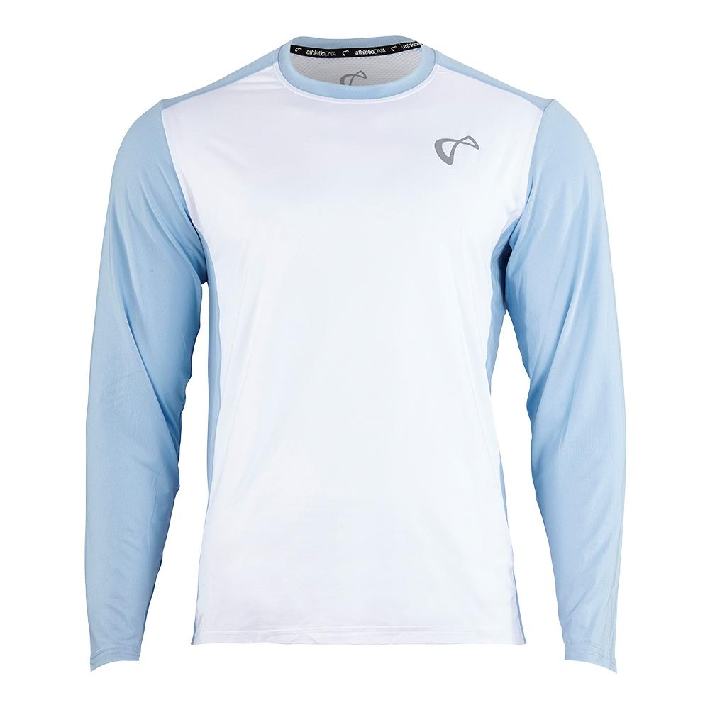 Men's Ventilator Long Sleeve Tennis Top White And Arctic