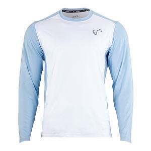Men`s Ventilator Long Sleeve Tennis Top White and Arctic