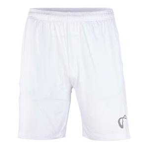 Men`s Hitting Knit Tennis Short White