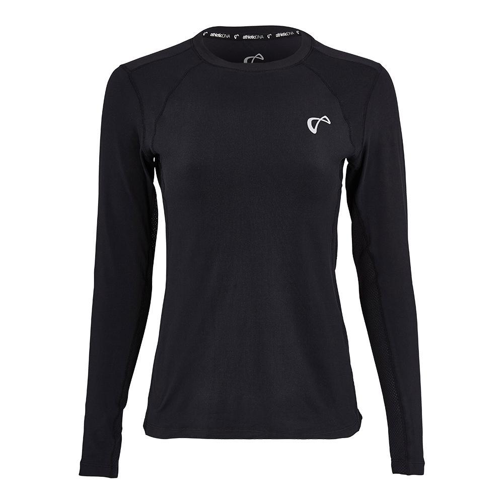 Women's Advantage Long Sleeve Tennis Top Black