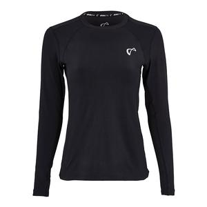 Women`s Advantage Long Sleeve Tennis Top Black