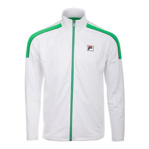 Men`s Legends Tennis Jacket White and Bright Green