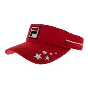 Women`s US Open Tennis Visor Chinese Red