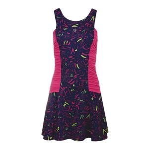 Women`s Fortissimo Tennis Dress Prima Donna Print and Pink Yarrow
