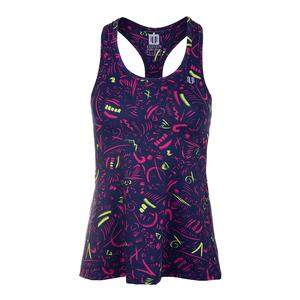 Women`s Race Day Tennis Tank Prima Donna Print