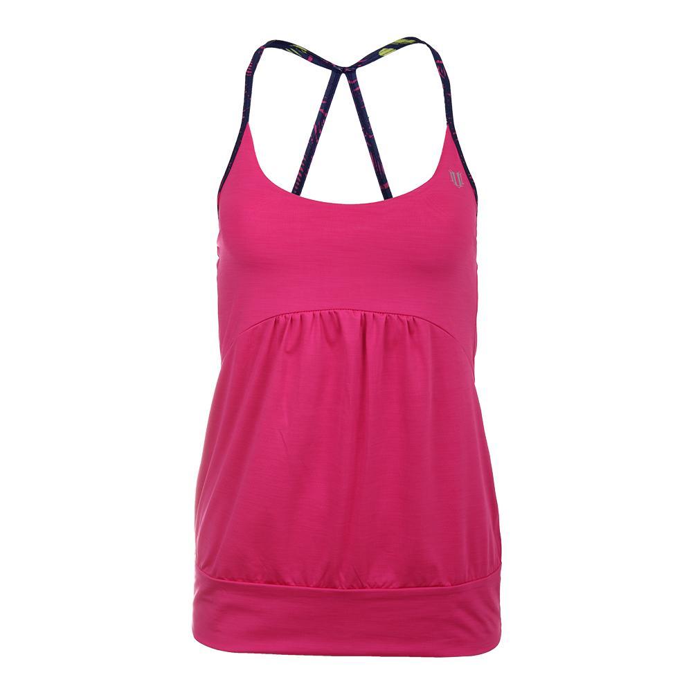 Women's Anu Tennis Tank Pink Yarrow