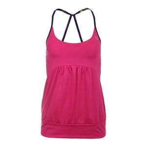 Women`s Anu Tennis Tank Pink Yarrow