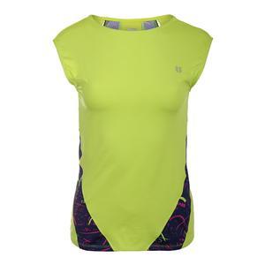 Women`s Backup Cap Sleeve Tennis Top Lime Popsicle