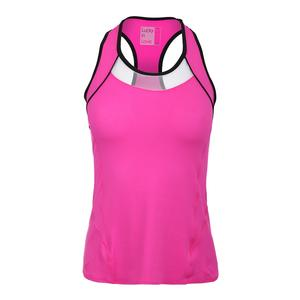 Women`s Colorblock Racerback Tennis Tank Pink Glow