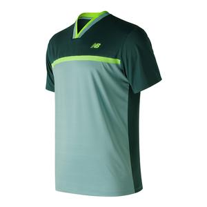 Men`s Tournament Tennis Top Deep Jade and Mineral Sage