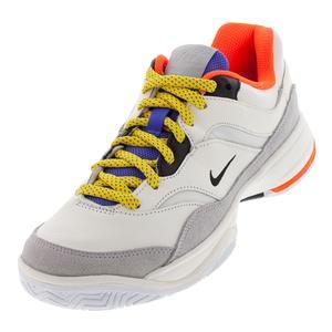 Men`s Court Lite Premium Tennis Shoes White and Aloe Verde