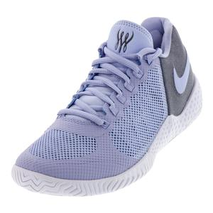 Women`s Court Flare 2 Tennis Shoes Purple Rise and Thunder Gray