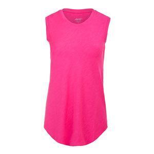 Women`s Muscle Tennis Tank Tropical Pink