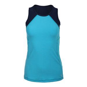 Women`s Topspin Racerback Tennis Tank Portofino Blue