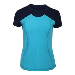 Women`s Fate Short Sleeve Tennis Top Portofino Blue