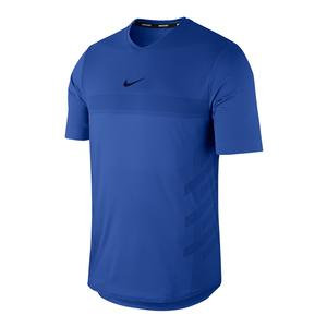 Men`s Rafa Court AeroReact Tennis Top Game Royal and Signal Blue