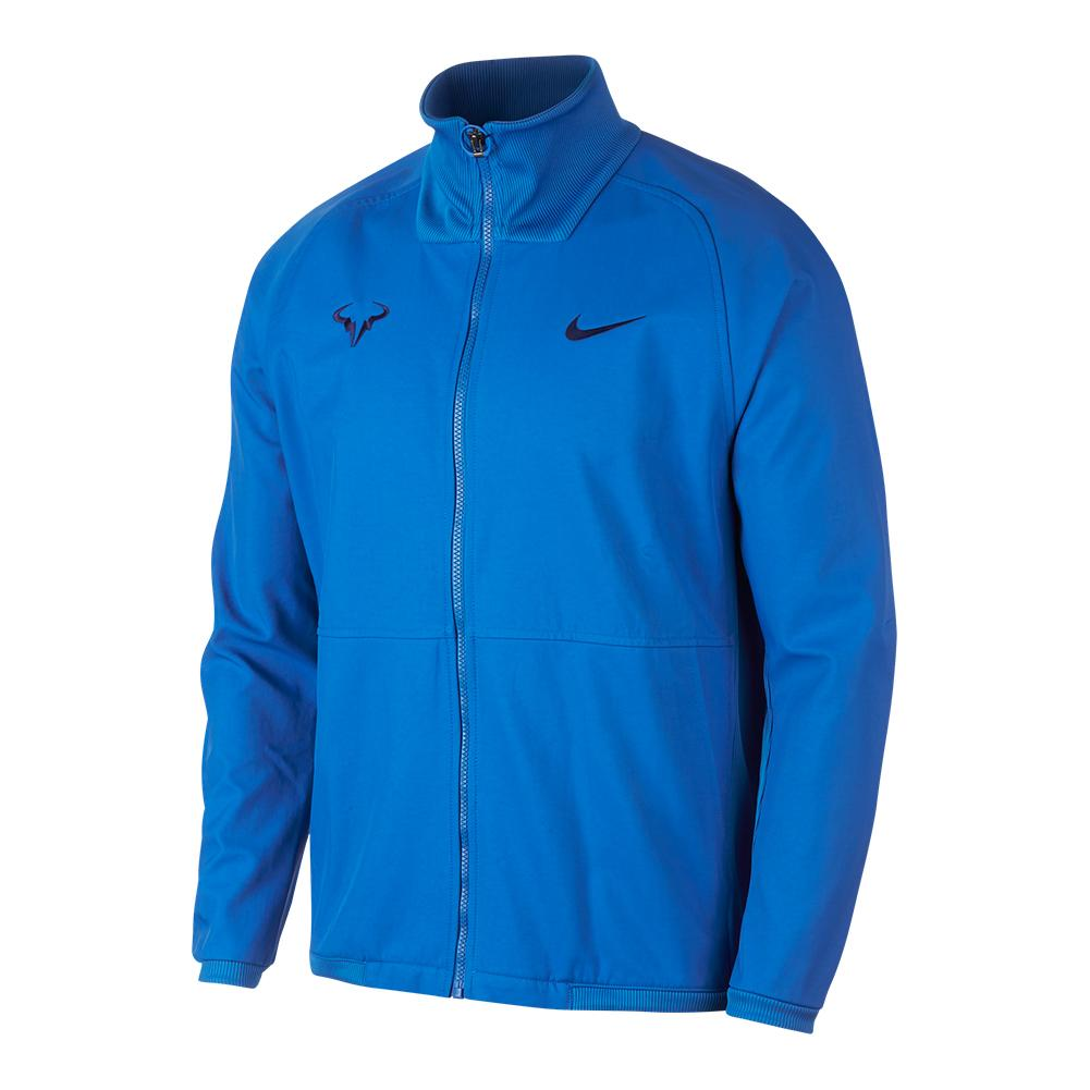 73b99dbad Nike Men`s Rafa Court Tennis Jacket Signal Blue and Blue Void