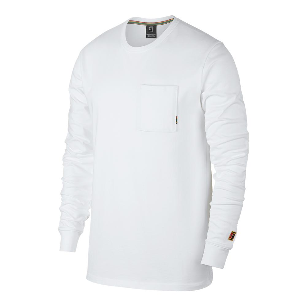 74499a7eae9 ... Men`s Court Heritage Long Sleeve Tennis Top 100 WHITE ...