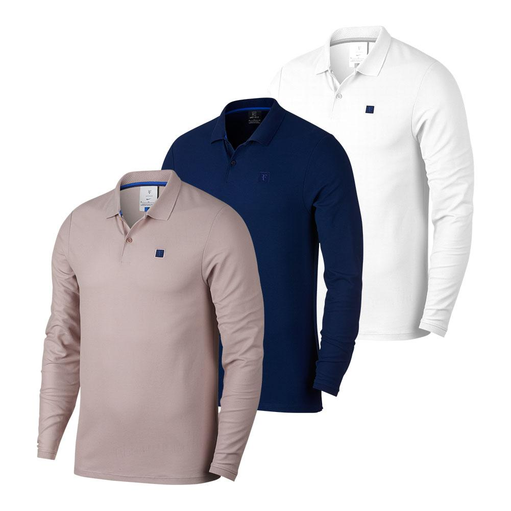 f16e7ee5c695 Nike Men`s Roger Federer Court Long Sleeve Tennis Polo