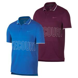 Men`s Court Dry Graphics Tennis Polo