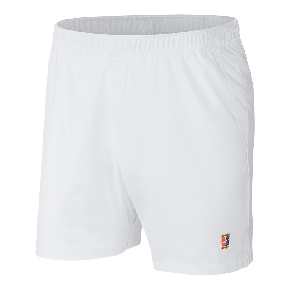 2427b9f1716a6 ... Men`s Court Dry 8 Inch Tennis Short 100 WHITE