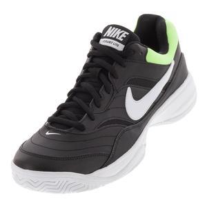 Men`s Court Lite Tennis Shoes Black and White