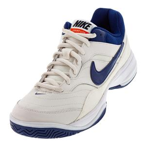 Men`s Court Lite Tennis Shoes Phantom and Blue Void