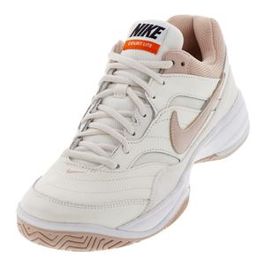 Women`s Court Lite Tennis Shoes Phantom and Particle Beige