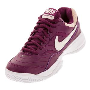Women`s Court Lite Tennis Shoes Bordeaux and Phantom