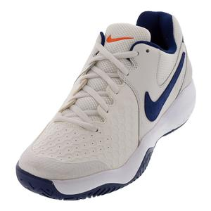 Men`s Air Zoom Resistance Tennis Shoes Phantom and Blue Void