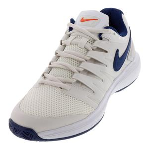 Men`s Air Zoom Prestige Tennis Shoes Phantom and Blue Void