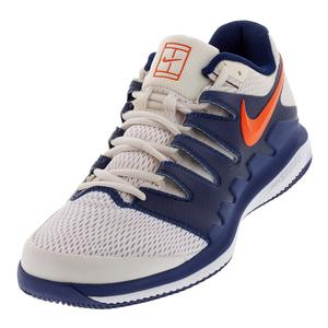 Men`s Air Zoom Vapor X Tennis Shoes Phantom and Orange Blaze
