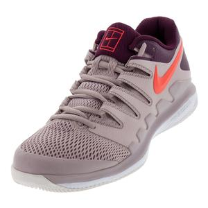 Men`s Air Zoom Vapor X Tennis Shoes Particle Rose and Bright Crimson