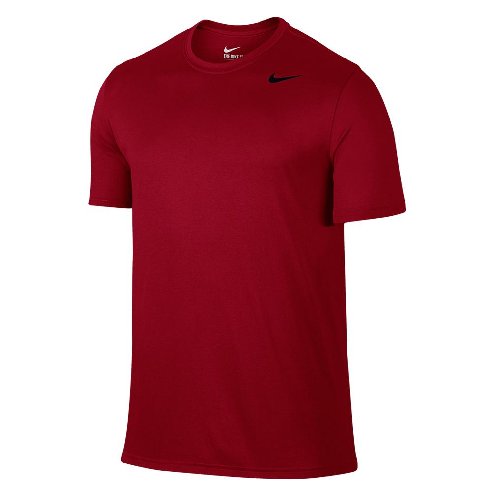 Men's Dry Training Tee Gym Red And Black
