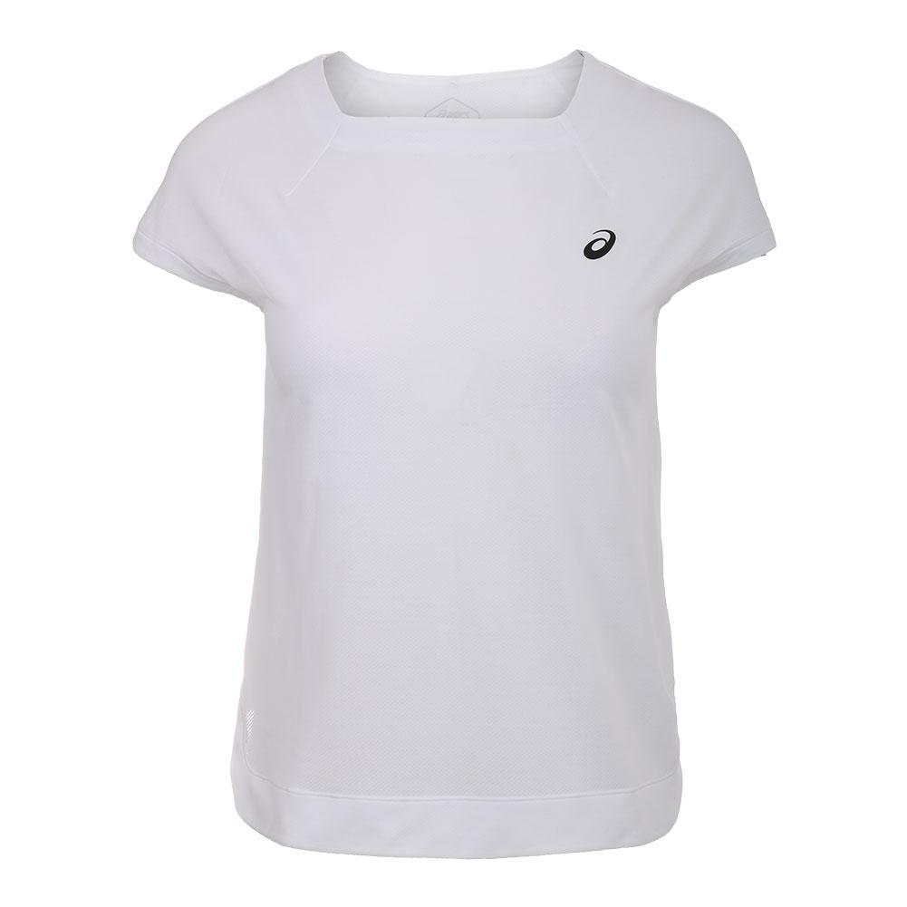 Women's Short Sleeve Tennis Top Brilliant White