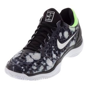 Men`s Air Zoom Cage 3 Premium Tennis Shoes Black and White